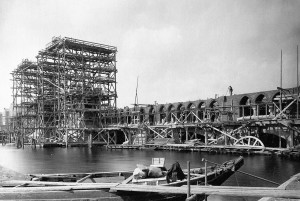 Baubeginn 1895 - Die Oberbaumbrücke - Bild: H.R.