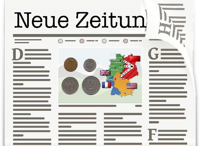 Die Neue Zeitung - Alliierten Zeitung für Nachkriegs Deutschland - Westsektoren