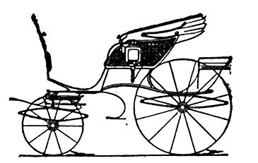 Kutsche Typ Spider Phaeton Carriage